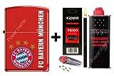 Zippo Feuerzeug FC BAYERN MÜNCHEN Red matte Neu 2012 + Zubehör L & Stabfeuerzeug Black Matte