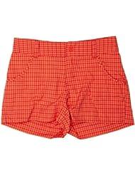 Columbia  - Pantalones cortos para niña, color naranja, talla M