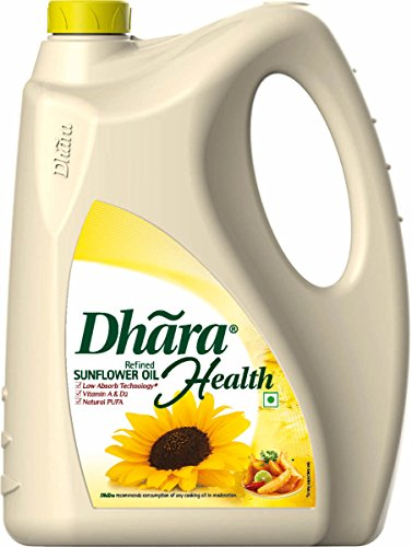 Dhara Health Refined Sunflower Oil Jar, 5L