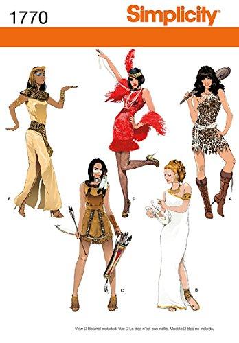 Kostüm Cave Frauen - Simplicity Muster 1770.k5614Misses 'Costumes