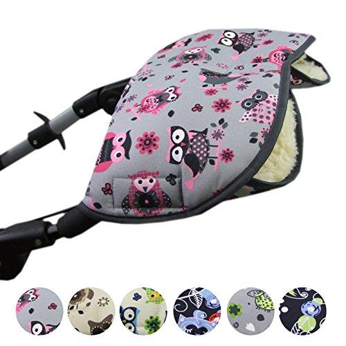 BAMBINIWELT universaler Muff/Handwärmer für Kinderwagen, Buggy, Jogger mit Wolle, EULEN ($12)