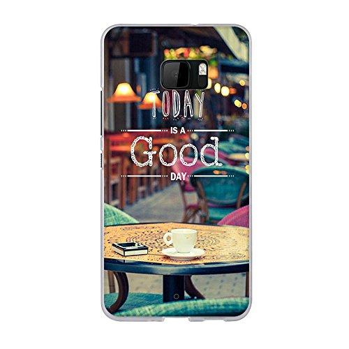 HTC U Ultra Hülle, Hochwertiger Ultra Dünn TPU Silikon Bumper, FUBAODA, Genießen Sie eine Gute Kaffeezeit, Kratzfest Langlebig, Stoßfest, Dauerhafter Schutz Handyhülle für HTC U Ultra (5.7
