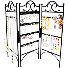 3 Panel Schmuck-Organizer für hängende Ohrringe, Armbänder & Halsketten, klassische Version