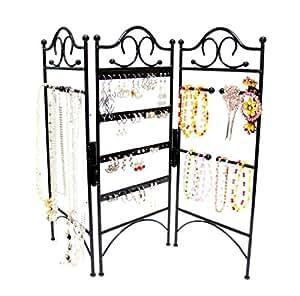 mango steam pr sentoir bijoux 3 panneaux pour boucles d 39 oreilles bracelets et colliers. Black Bedroom Furniture Sets. Home Design Ideas