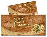 30 mal Einladungskarten zum Geburtstag Erwachsene, Mann Frau - für jedes Alter Wunschalter - Größe 21 x 9,9 cm DIN lang
