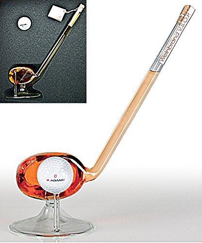 1 Flasche 3-Sterne-Weinbrand VSOP in Form eines Golfschlägers, ca. 100 ml, 36%vol, 1 Golfball