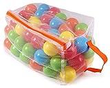 Ondis24 100 Bälle für Bällebad Badebälle Set Bälleparadies für Kinder mit Ballnetz