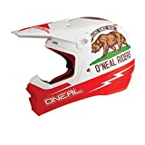 O'Neal 5Series MX Helm CALIFORNIA Weiß Rot Motocross Enduro Offroad Cross Motorrad Quad, 0618C-10, Größe Medium (57 - 58 cm)