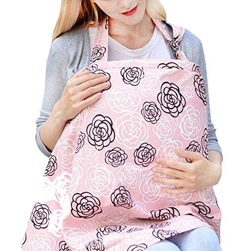 Espoy Stilltuch Infinity Still Schal für das Stillen mit Aufbewahrungstaschen 100% atmungsaktive Baumwolle