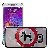 Grand Phone Cases Bild Hart Handy Schwarz Schutz Case Cover Schale Etui // M00141082 Registrieren Dog Leech Silhouette // Samsung Galaxy S6 EDGE (Not Fits S6)