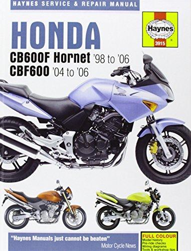 Honda CB600F/FS Hornet and CBF600 Service and Repair Manual: 1998 to 2006 (Haynes Service and Repair Manuals) by Phil Mather (12-Jun-2007) Hardcover