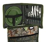 g8ds 10-teiliges komplettes Camouflage Campinggeschirr und Besteck für 2 Personen Kochgeschirr Camping-Besteck-Geschirr-Set Survival Outdoor Camo