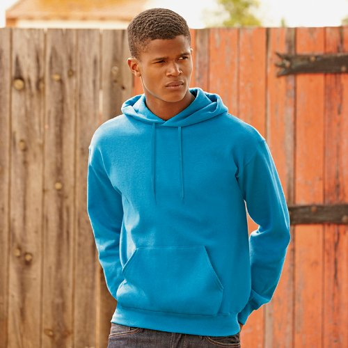 Fruit of the Loom Herren Sweatshirt 12208B Blau - Azure Blue