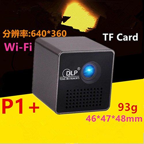 P1 mini beweglicher HauptHD Projektor,WiFi Beamer ,DLP Telefon Apple Andrews Projekto+WLAN-Empfängerr