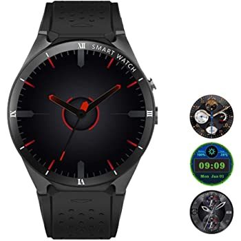 Teepao [Versión actualizada KW88 3G Smart Watch WiFi SmartWatch teléfono móvil Todo en uno Bluetooth
