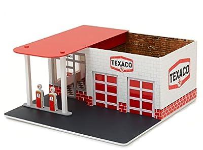 Tankstelle TEXACO Gas Station Werkstatt fertig montiert - Greenlight 1:64 von Greenlight