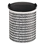 ASA Selection Coppa Vorratsdose, Dose, Behälter, mit Deckel, Mini Stripes, Keramik, Schwarz / Weiß, 4875014