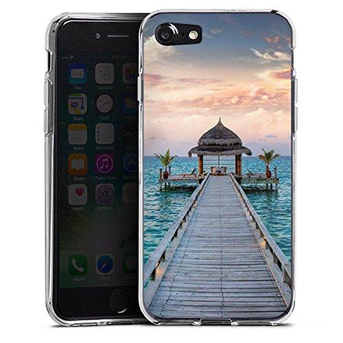 Apple iPhone X Silikon Hülle Case Schutzhülle Steg Urlaub Meer Silikon Case transparent
