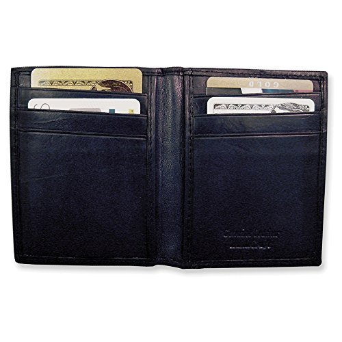 Black Leather Flip Feature Front Pocket Wallet by Jewelry Adviser Gifts
