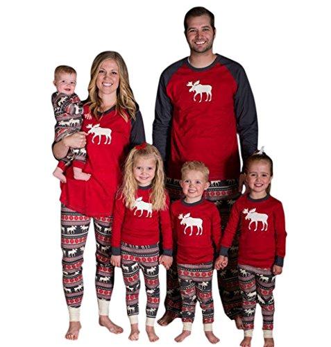 YaoDgFa Ugly Weihnachten Pyjama Schlafanzug Familie Weihnachts Xmas Weihnachtspyjama Nachtwäsche Hausanzug Sleepwear Sweater Set Damen Herren Kinder Mädchen Jungen Baby