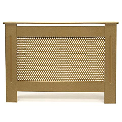FOREST Cache-radiateur armoire en MDF brut, ROND grille Taille M