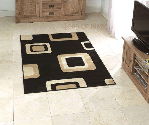 Sehr große Moderner Teppich in schwarz, 160 x 220 cm 5 x 7