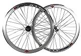 Deep V - 43mm, ruedas fijas para bicicleta Fixie, una sola velocidad, con cubos giratorios,...