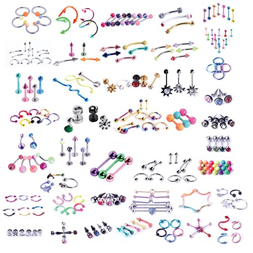 BodyJ4You 120PCS Body Piercing L...