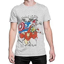 Marvel Comics - Camiseta para hombre Avengers - Talla Large
