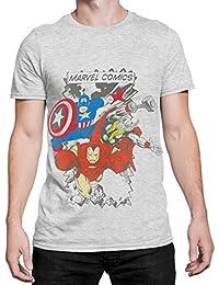 Marvel Comics Herren T-Shirt - Multi-Charakter - Small bis XX-Large
