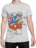 Marvel Comics Herren T-Shirt - Multi-Charakter - XX-Large