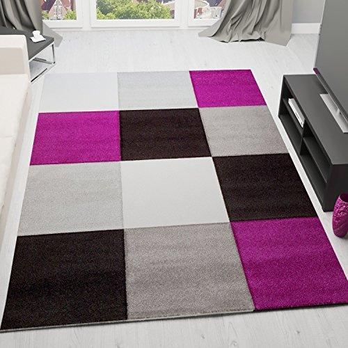 vimodavimoda-infinity6392-designer-tapis-moderne-design-motif-carreaux-profondeur-haute-poils-courts