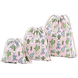 Cdet 1 Pcs Lagerung Tasche Kaktus Mittlere Größe Baumwolle Strahl Mund Kordelzug Tee Geschenk Süßigkeiten Rauchen Taschen Aufbewahrungsbeutel Kosmetiktaschen Wäschesack Aufbewahrungs Tasche