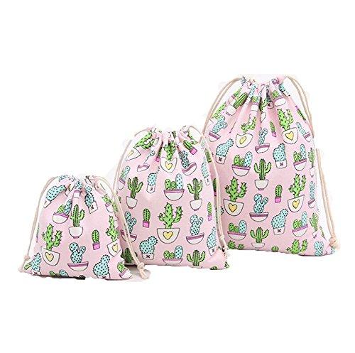 Cdet 1 Pcs Lagerung Tasche Kaktus Groß Baumwolle Strahl Mund Kordelzug Tee Geschenk Süßigkeiten Rauchen Taschen Aufbewahrungsbeutel Kosmetiktaschen Wäschesack Aufbewahrungs Tasche