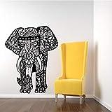 Calcomanías De Pared De Tres Elefantes India Mandala Buda Om Vinilo Dormitorio Pegatinas...