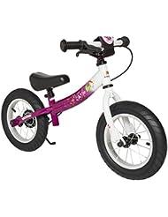 BIKESTAR® Original Premium Sicherheits-Kinderlaufrad für modebewusste Prinzessinnen ab 3 Jahren ★ 12er Sport Edition ★ Bezaubernd Berry & Diamant Weiß