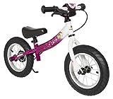 BIKESTAR Kinder Laufrad Lauflernrad Kinderrad für Mädchen ab 3-4 Jahre | 12 Zoll Sport Kinderlaufrad | Berry & Weiß