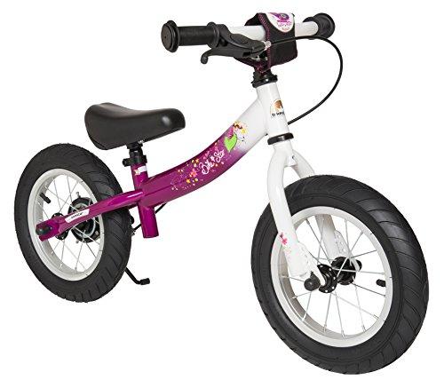 BIKESTAR® 30.5cm (12 pouces) Vélo Draisienne pour enfants ★ Edition Sport ★ Couleur Berry & Blanc