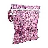Bumkins BUMKWDB740 Wet/Dry Bag Busta per Asciutto/Bagnato, Rosa (Love Birds)