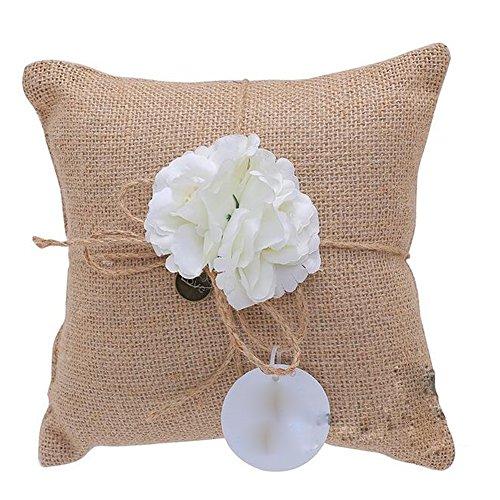 Bpblgf nuovo matrimonio pocket anello cuscino portatore burlap lace stile rustico 20x 20cm, 03, 20cm*20cm