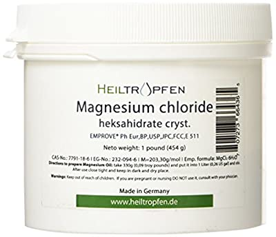 1 Pound Magnesium Chloride, Hexahydrate, Pharmaceutical Grade, Crystal Powder, Pure Ph. Eur., BP, USP, 100% Edible -Muscle Pain Relief from EMPROVE® Merck Millipore