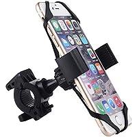 GWHOLE Montaje Soporte de Teléfono Móvil para Bicicleta (ideal para iPhone, Samsung Galaxy, etc.) Negro