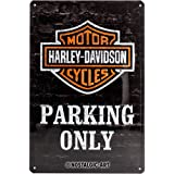 Nostalgic-Art 22231 Harley-Davidson - Parking Only, Targa in metallo retrò 20x30 cm
