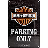 Nostalgic-Art 22231 Harley-Davidson - Parking Only, Blechschild 20x30 cm