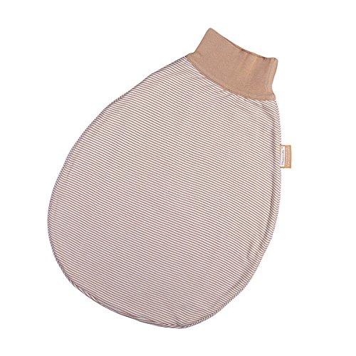 Preisvergleich Produktbild Hoppediz S-50-nat Wohlfühl-Strampelsack gestreift ohne Gurtschlitz, Größe 50-62, natur
