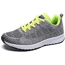7482140b59181 Zapatillas de Deportivos de Running para Mujer Gimnasia Ligero Sneakers  Negro Azul Gris Blanco Verde 35