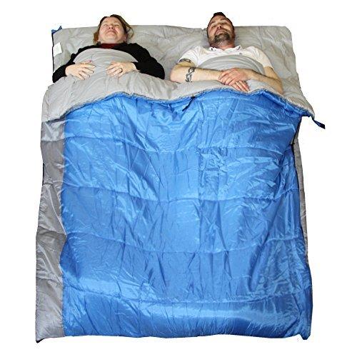 Redstone XL Doppel Schlafsack-in 2 Einzelschlafsäcke Wandelbar Wärmende 400g/qm Füllung 210cm Länge