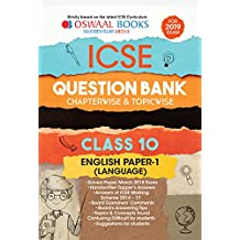 Oswaal ICSE Question Bank Class 10 English Papers 1 Language Chapterwise & Topicwise (For March 2019 Exam)
