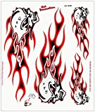 Adhésif Crânes Énflammés, 20 x 24 cm