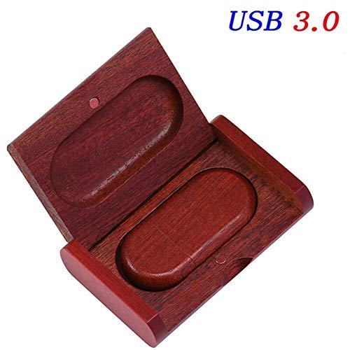 Redwood Box (YANODA USB 3.0-Fotogeschenk Externer Speicher-USB-Stick 16 GB 32 GB 64 GB (Capacity : 16GB, Color : Redwood USB Box))